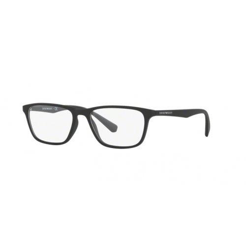 Emporio Armani EA3086 Eyeglass Frames 5042 - Matte Black 52mm