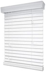 Amazon Com Designview Arctic White Premium Faux Wood Blind 2 In Slats Price Varies By Size Home Kitchen