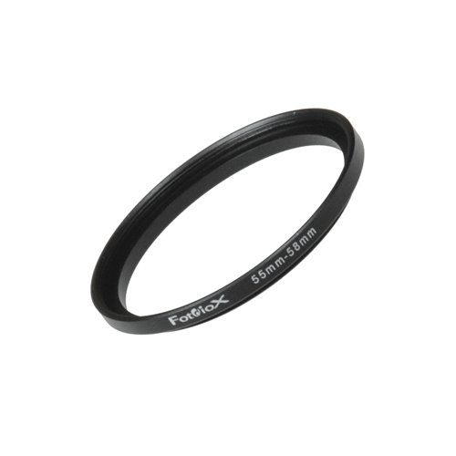 Fotodiox Metal Step Up Ring Filter Adapter, Anodized Black Aluminum 55mm-58mm, 55-58 mm