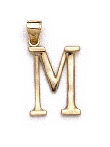 "Pendentif initiale 14 carats 3 M 1/8 ""longue JewelryWeb"