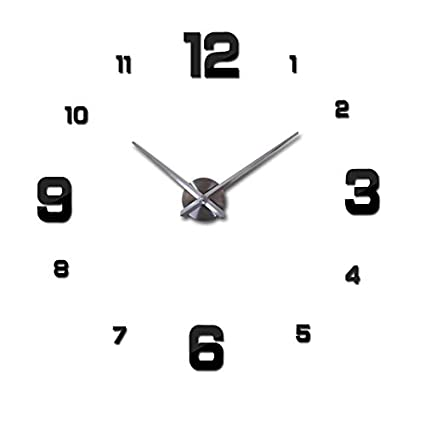 Best.trademark: HOT 3D DIY Acrylic miroir Wall Clock 3D Stickers Watch Clocks Quartz