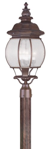 Livex Lighting 7909-58 Frontenac 4 Light Outdoor Post Head, Imperial Bronze