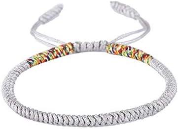 LEIGAGA Pulsera de Cuerda de Nudos Hechos a Mano Good Lucky Charm Pulseras y brazaletes budistas tibetanos para Mujeres Hombres2