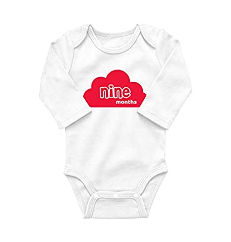 2c6b25199 Aulie Monthly Milestone Baby Bodysuit (for 9 Months Old Baby ...