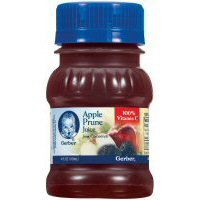 Gerber 100 Percent Apple, Prune Juice, 4 Fluid Ounce - 24 per case.