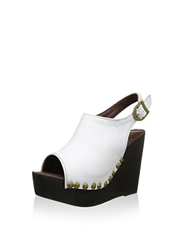 Jeffrey Campbell Snick, Women's Wedge Sandals White