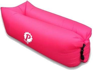 Pevita airPuf - Sofá, Colchón Hinchable. Perfecto Laybag para la Playa, Piscina, Jardín y Camping. Tumbona de Aire en diferentes colores. Lazybag (Rosa): Amazon.es: Deportes y aire libre