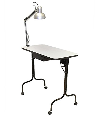 PIBBS Manicure Table Fold Legs with Lamp (Model: 974) by Pibbs (Image #2)
