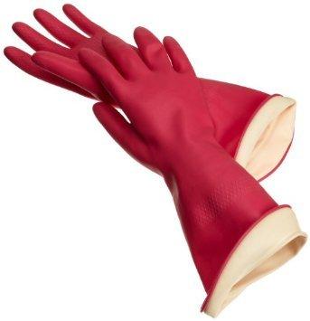 Casabella Premium Non Toxic 100% PINK Water Stop Gloves, Large 1pr (Casabella Premium Water Stop Gloves Small 1pr)