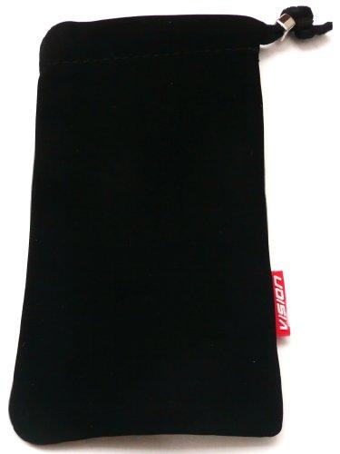 Emartbuy® Vision Schwarz Faux Suede Soft-Slide In Pouch / Gehäuse / Cover Für Apple Iphone 5 5s