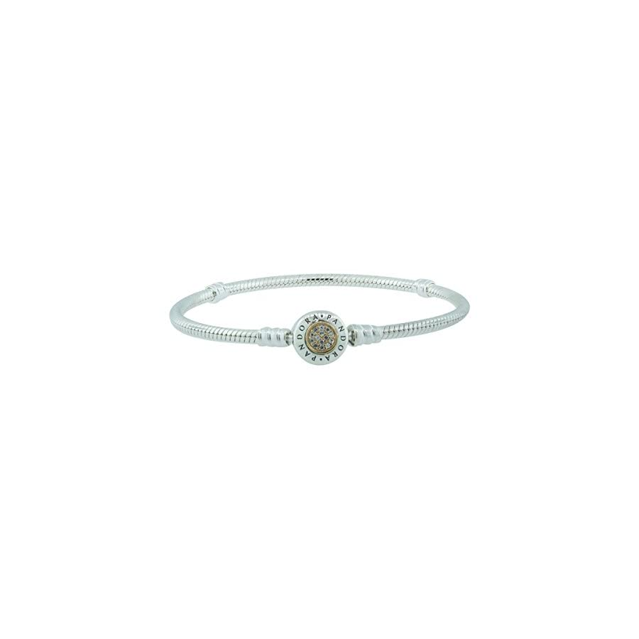 Bracelet Pandora Moments 590741CZ 19 Women Two Tone