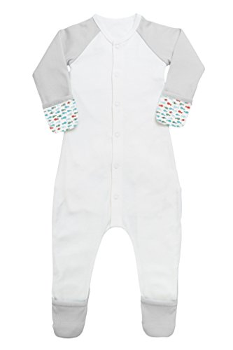 Goumikids Goumi'all Baby Smart Footie Pajamas,School of Fish (Aqua),0-3 Months