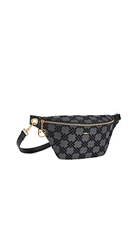 Furla Women's Furla Fortezza Belt Bag, Onyx, Black, Plaid, One Size
