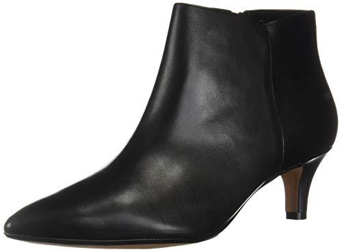 Clarks Women's Linvale Sea Fashion Boot, Black Leather, 80 W US