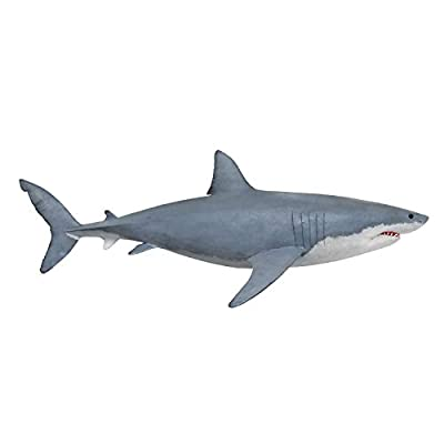 Great White Shark Wall Decal Peel and Stick Giant Life Size Graphic Sticker #6084