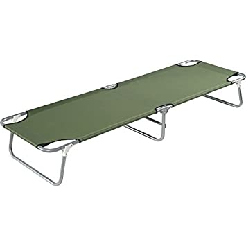 Sturdy Field Stream Steel Frame Camp Cot with Lock-In Leg Feature