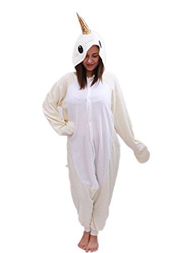 Adult Narwhal Onesie Animal Pajamas-Plush One Piece Halloween Cosplay Costume