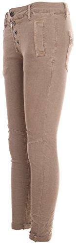 Estrecho Reißverschluss Basic Beige Tipo 4 Algodón De Cremallera Botones de Pantalones Und Y Boyfriend knopf Con Ajuste aH1HXwq
