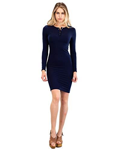 Instar Stretch Women's Midi Mode Surplice Navy Bodycon Idrw018 Blue Mini Dress UU4pWqrHw