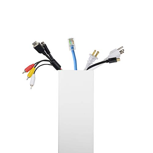 - Maxi Cable Raceway Cord Organizer-Wire Hider for TV,Computers,Your Home or Office,Paintable on Wall Mounted Cable Management, Large Shield,Each Cover L.3`,6 Pieces Channel 3.93