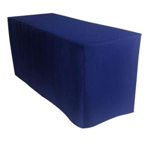 OKSLO 8 feet tablecloth navy fitted tablecloth polyester table cover trade show banque by OKSLO