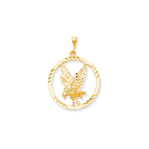 ICE CARATS 10kt Yellow Gold Eagle In A Frame Pendant Charm Necklace Bird Fine Jewelry Ideal Gifts For Women Gift Set From Heart Eagle Pendant 10kt Gold Jewelry