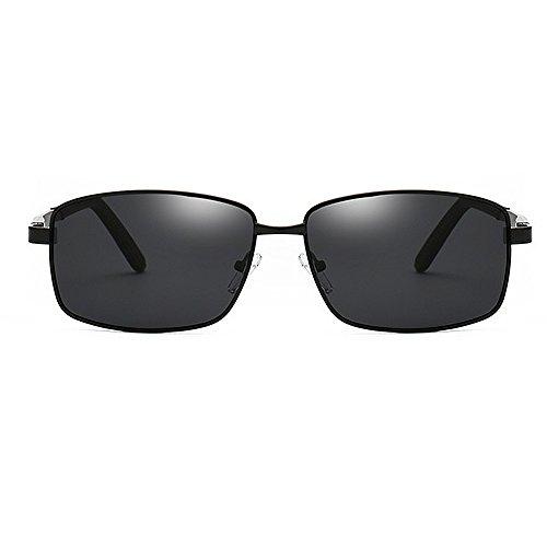 Chasis conducción aluminio deportivas sol UV sol metálico de retro para Gafas Gafas sol con borde Retro sol de de de metal Gafas viajar magnesio de polarizadas de Protección Negro Béisbol Correr de Gafas y w6RfHfXqx