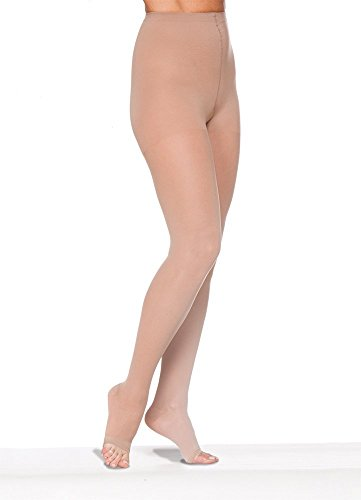 SIGVARIS Women's EVERSHEER 780 Open Toe Waist-High Compression Pantyhose 15-20mmHg