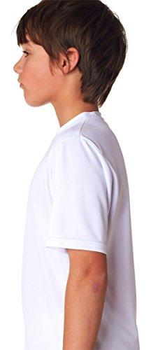 cortas Oro A4 Camiseta juvenil camiseta Performance mangas Cooling redondo cuello 88zn5Awqx