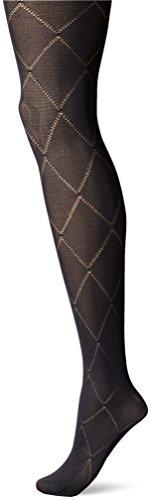 Berkshire Women's Diamond Fashion Sheer Pantyhose-8857, Black, (Black Diamond Tights)