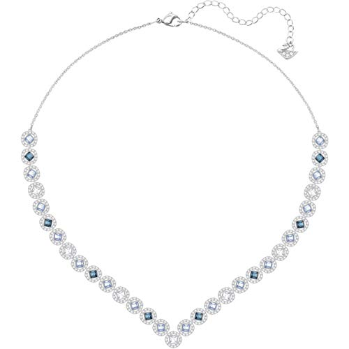 - Swarovski Crystal Large Multi-Colored Angelic Square Rhodium-Plated Necklace