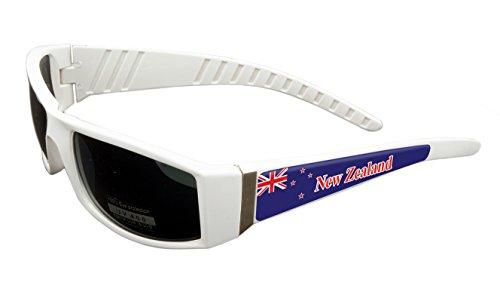 New Zealand Design White Frame/Black Lens 60mm Sunglasses Item # - New Sunglasses Zealand
