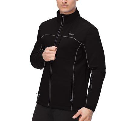 Fila Men's Adventure Jacket, Black, Black, XL