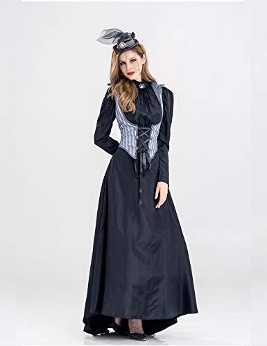 Zhuhaijq Adultes Dames Costumées Femmes Halloween Costume Des Femmes De - Belle Performance Scénique De Vêtements De Fête Mascarade Costume Vêtements Robes De Halloween Noir