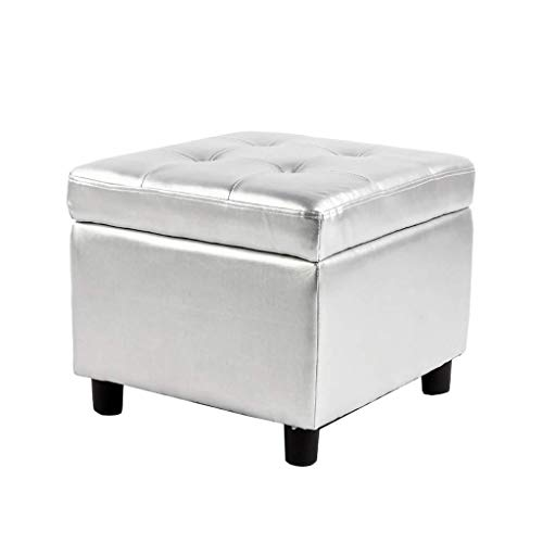 ZKKZ-CHAIRS Foot Stools Ottoman Wood Upholstered Storage Change Shoes Stool Suitable for Living Room Bedroom (Size : B)