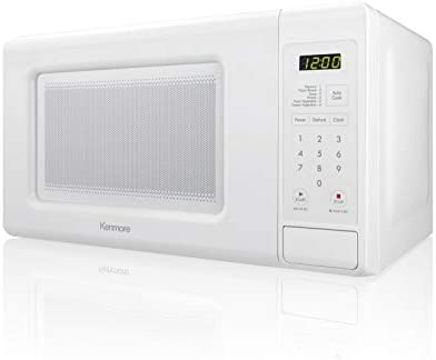 Kenmore Elite Small 70712 Countertop Microwave, 0.7 cu. ft, White