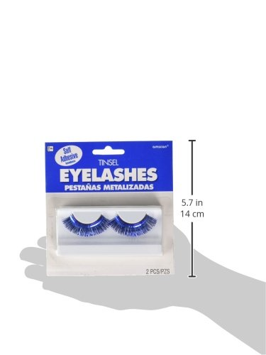 Party Accessory 397281.22 Amscan Blue Tinsel Eyelashes 6 Pairs TradeMart Inc
