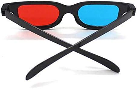 UKE Rojo Azul Gafas 3D, Gafas 3D Rojo Azul VISIÓN para TV 3D Películas De Cine DVD Visualización O Lectura Entretenimiento Plástico Enmarcado (Paquete De 10): Amazon.es: Hogar