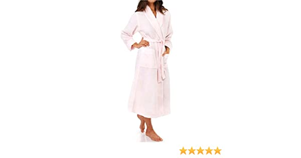 b73d4837f9 KayAnna Waffle Shawl Collar Spa Robe (S01156) S Lotus Pink at Amazon  Women s Clothing store