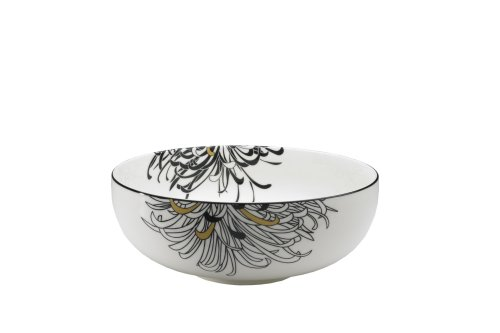 Denby Monsoon Home Chrysanthemum 3-1/2-Pint Serving Bowl