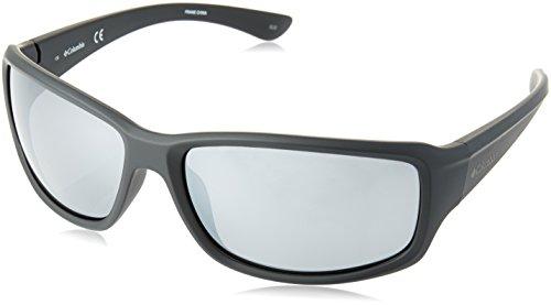 Columbia Men's Point Reyes Rectangular Sunglasses, Matte Black, 63 mm