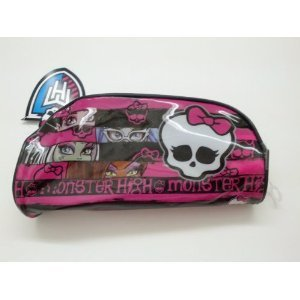 Licensed Monster High Zippered Cosmetic Bag / Pencil Case / Pouch