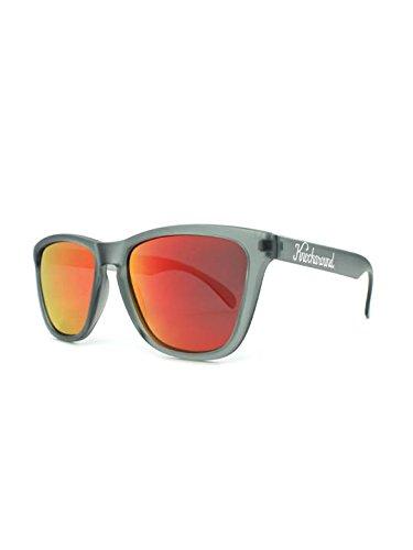 Knockaround Classics Polarized Sunglasses, Frosted Grey / Red - Polarized Sunglasses Grey