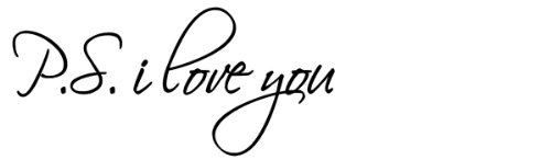 ps i love you decal - 3
