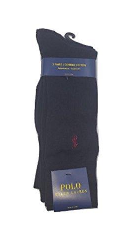 Polo Ralph BlackOne Size Knit Dress Socks3 Men's Lauren Pack Flat deBrxWCo