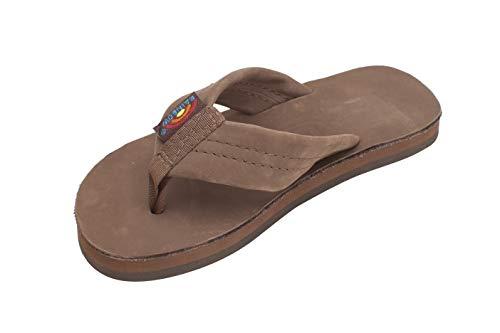 Rainbow Sandals Kid's Single Layer Premier Leather Sandals, Expresso, Kid's 13-1 B(M) US