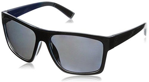 VonZipper Dipstick Polar Polarized Rectangular Sunglasses, Parko Black Stripe/Silver Polar, 60 mm from VonZipper