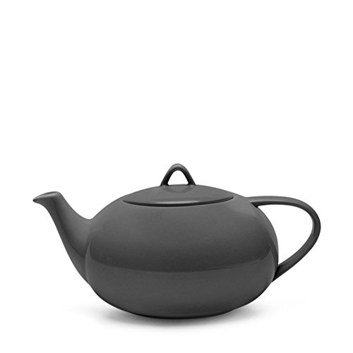 Teabox Moonset Teapot - Grey (Fine Bone China, Microwave Safe, 50.7 fl oz)