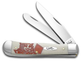 Trapper Natural Smooth Bone - Case XX POKER KING OF DIAMONDS SMOOTH NATURAL BONE TRAPPER