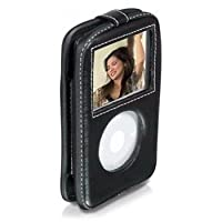Philips Ipod Classic Video Leather Case with Belt Clip for 30/60/80 GB